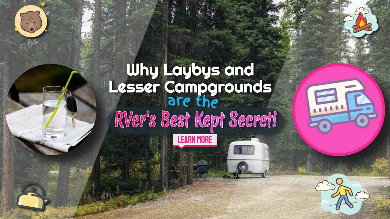 """Image text: """"Laybys and lesser campgrounds""""."""